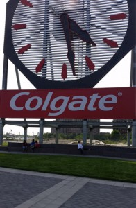The Colgate clock in Jersey City.