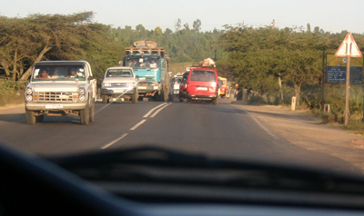 PHOTO BY JERRY SCHARF Driving south out of Addis Ababa and into the Great Rift Valley.